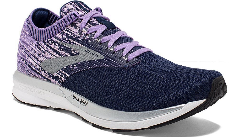 purple and blue sneakers