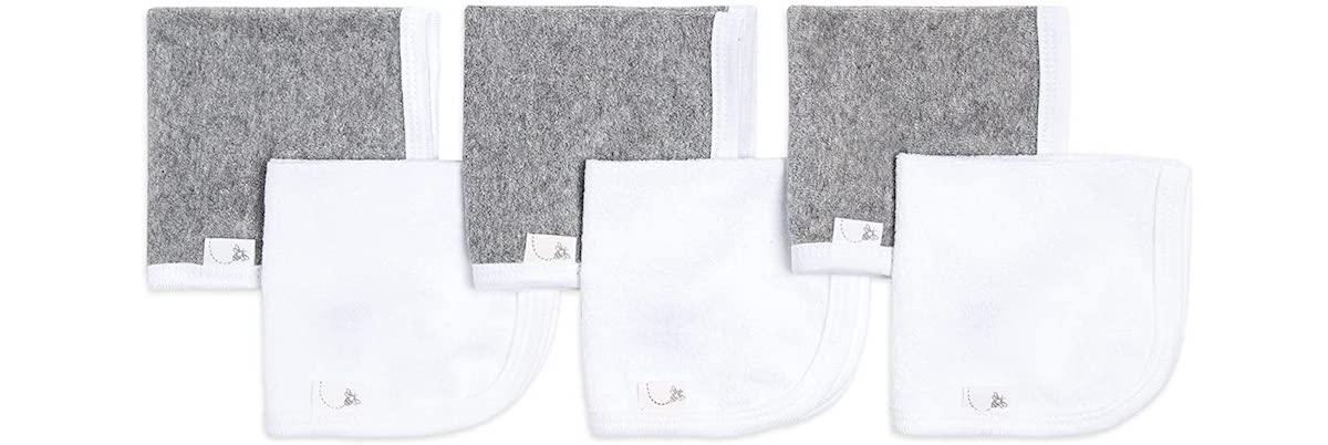 six washcloths