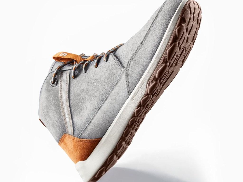 grey and tan sneaker