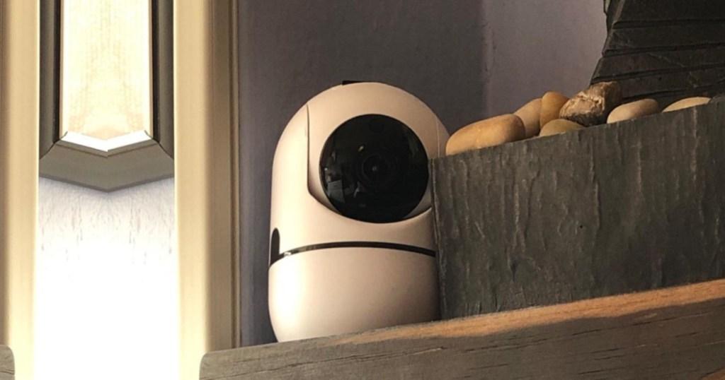 baby camera on ledge