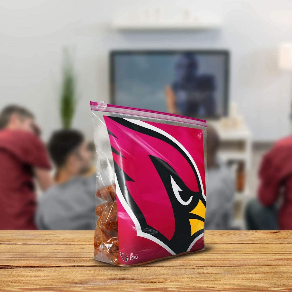 Cardinals Ziploc bag filled with wings