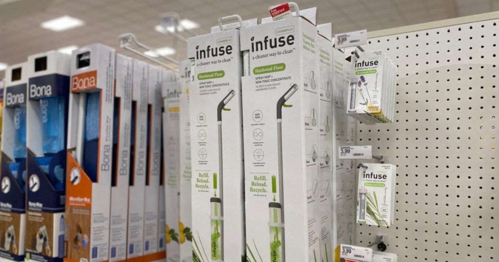 Casabella Infuse mop hanging on shelf at target