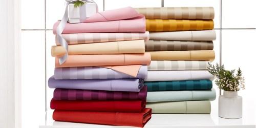 Cotton Sheet Sets from $27.99 Shipped on Macys.com