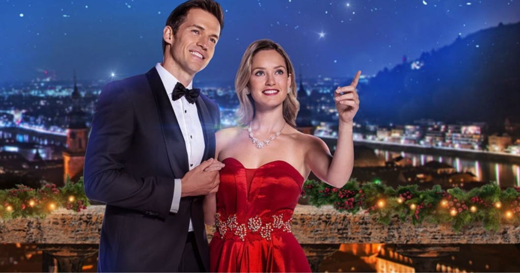 man and women in formal wear at night