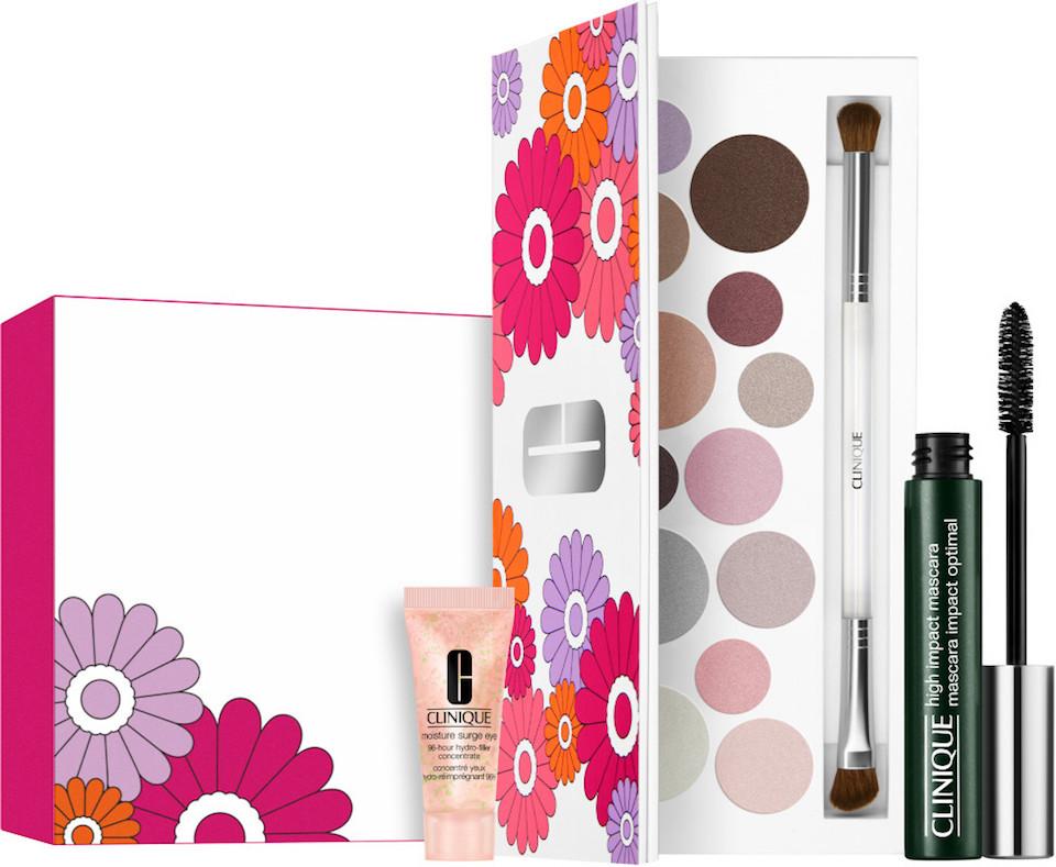 Clinique cosmetics next to box