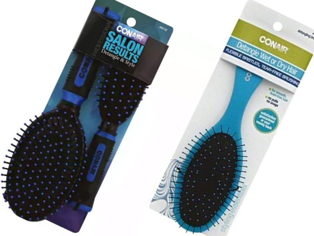 two packs of conair brushes