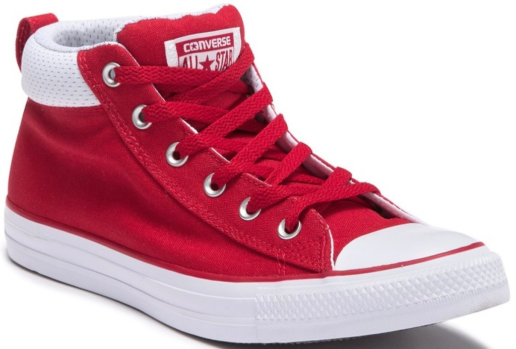 Red Converse Mid-Top Shoes