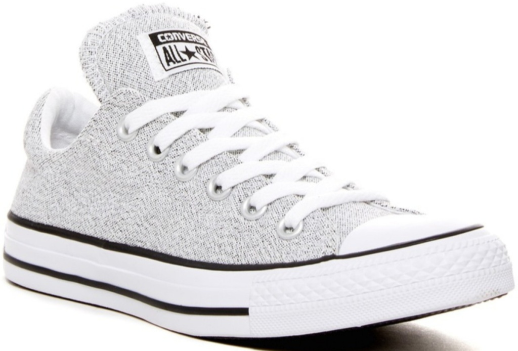 women's gray and white converse low top shoes