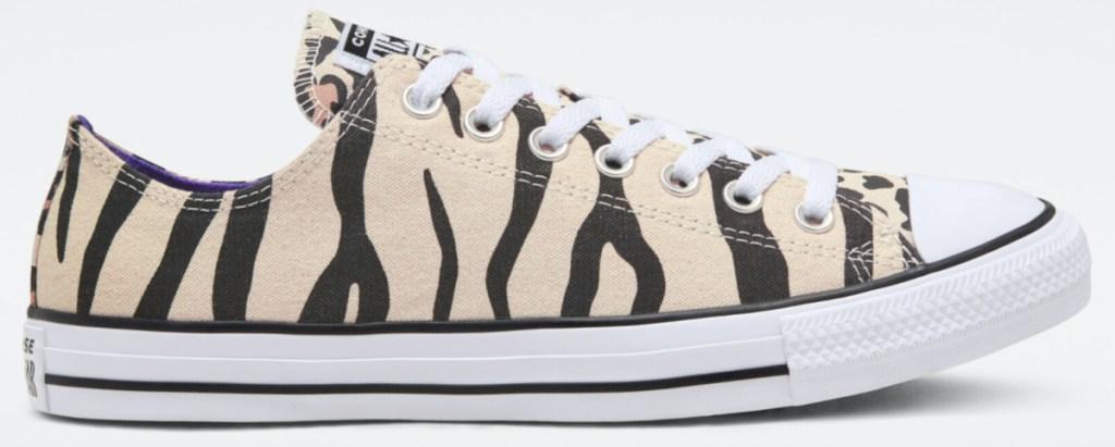 tan and brown animal print shoe