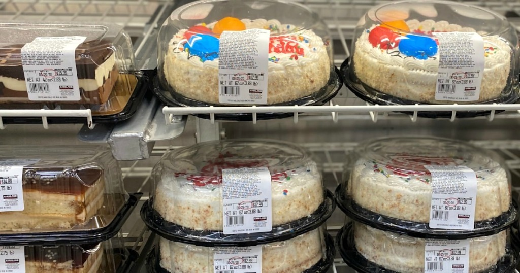 Costco cakes on shelves