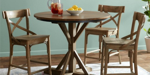 World Market Walnut Bistro Counter Height Dining Table Only $139.99 Shipped (Regularly $350)