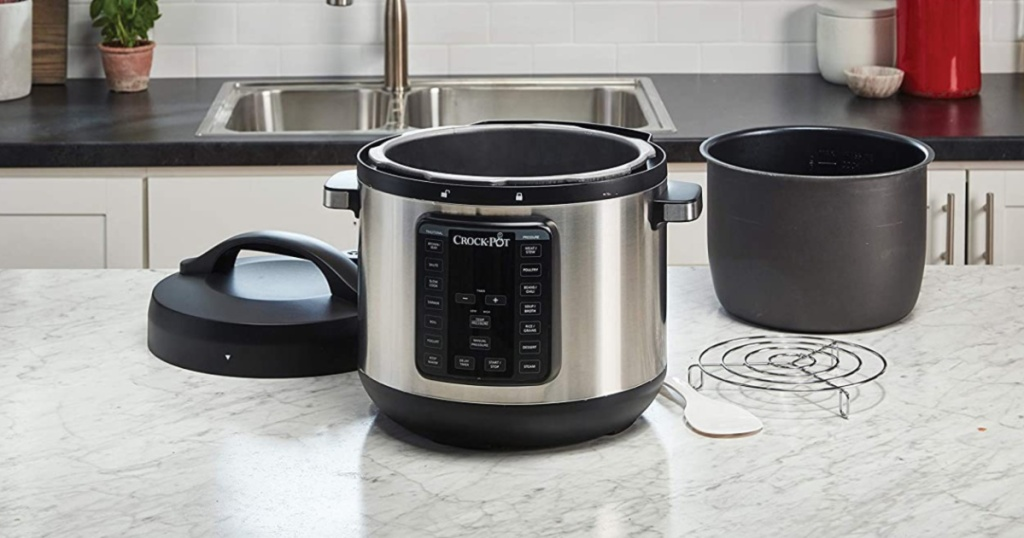 kitchen with Crock-Pot 8-Quart Pressure Cooker separated