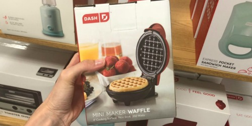 Dash Mini Waffle Maker, Griddle & Grill Only $19.98 on Amazon (Just $6.66 Each)