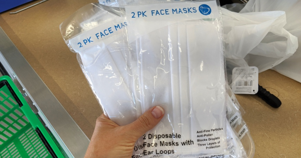 Dollar Tree 2-Pack Disposable Face Masks