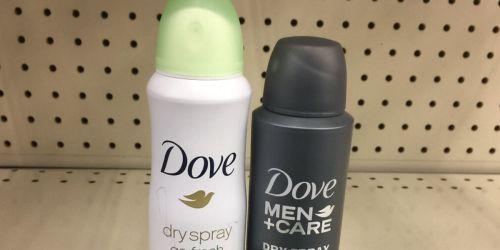 Score TWO Free Dove & Degree Deodorant Spray Samples
