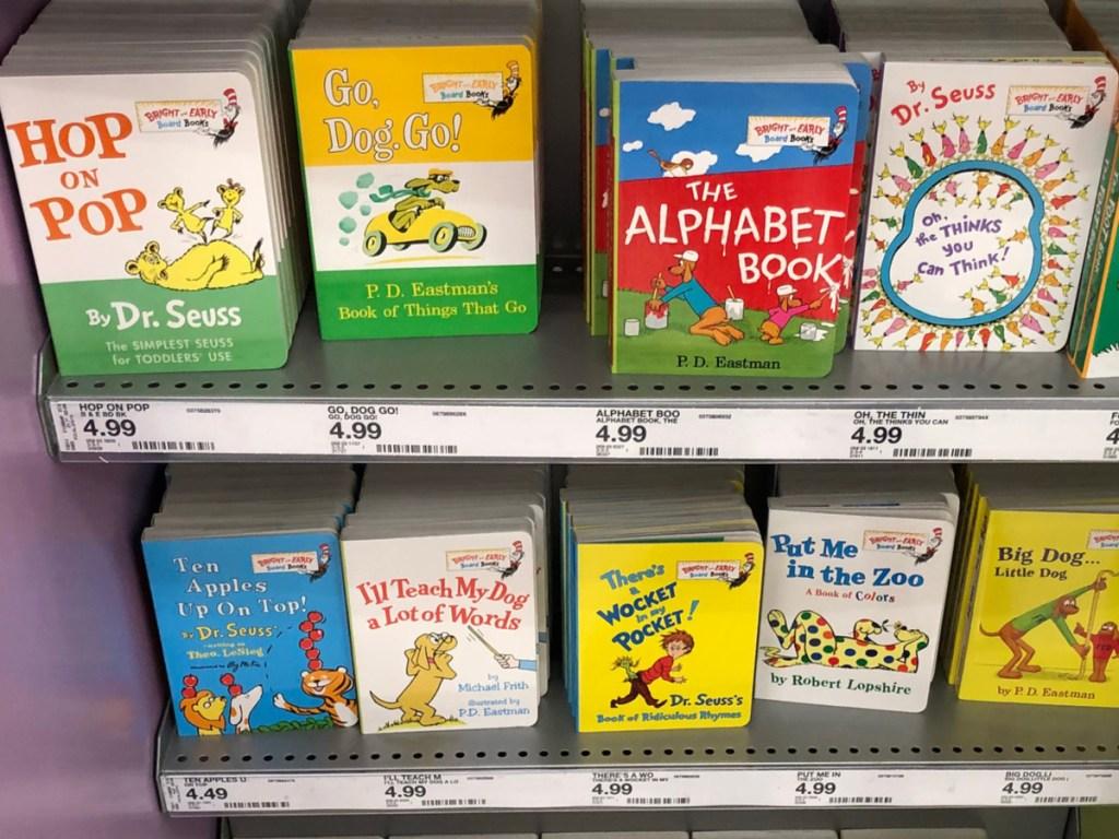 Dr. Seuss Board Books on store shelf