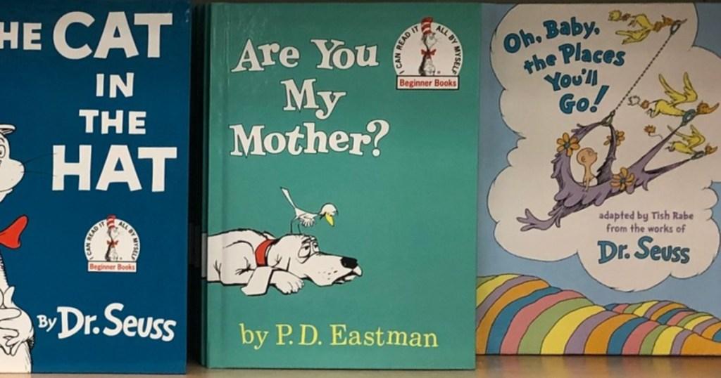 Dr. Seuss Children's Books on store shelf