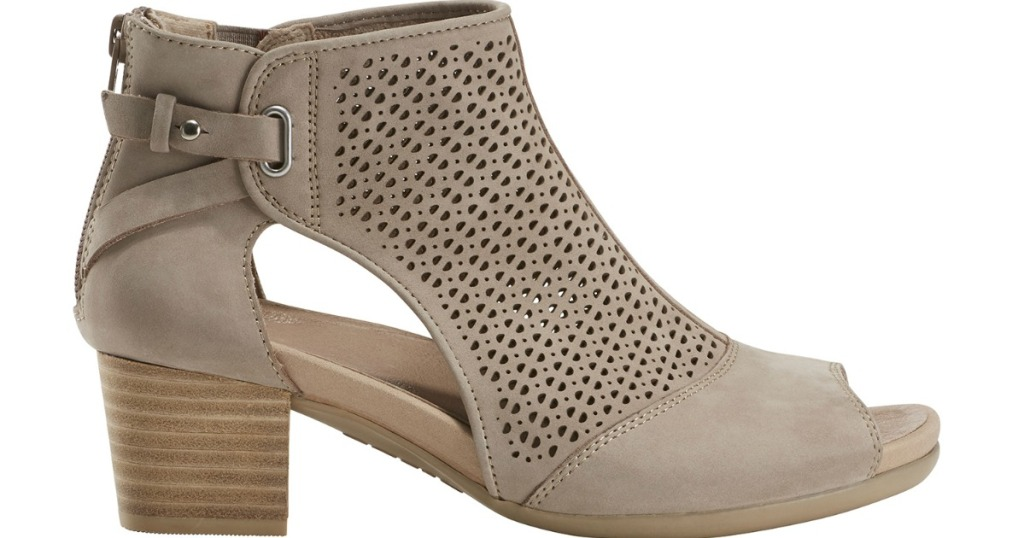 tan sandal booties