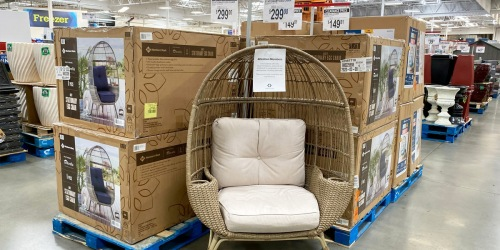 $100 Off Member's Mark Patio Egg Chair at Sam's Club