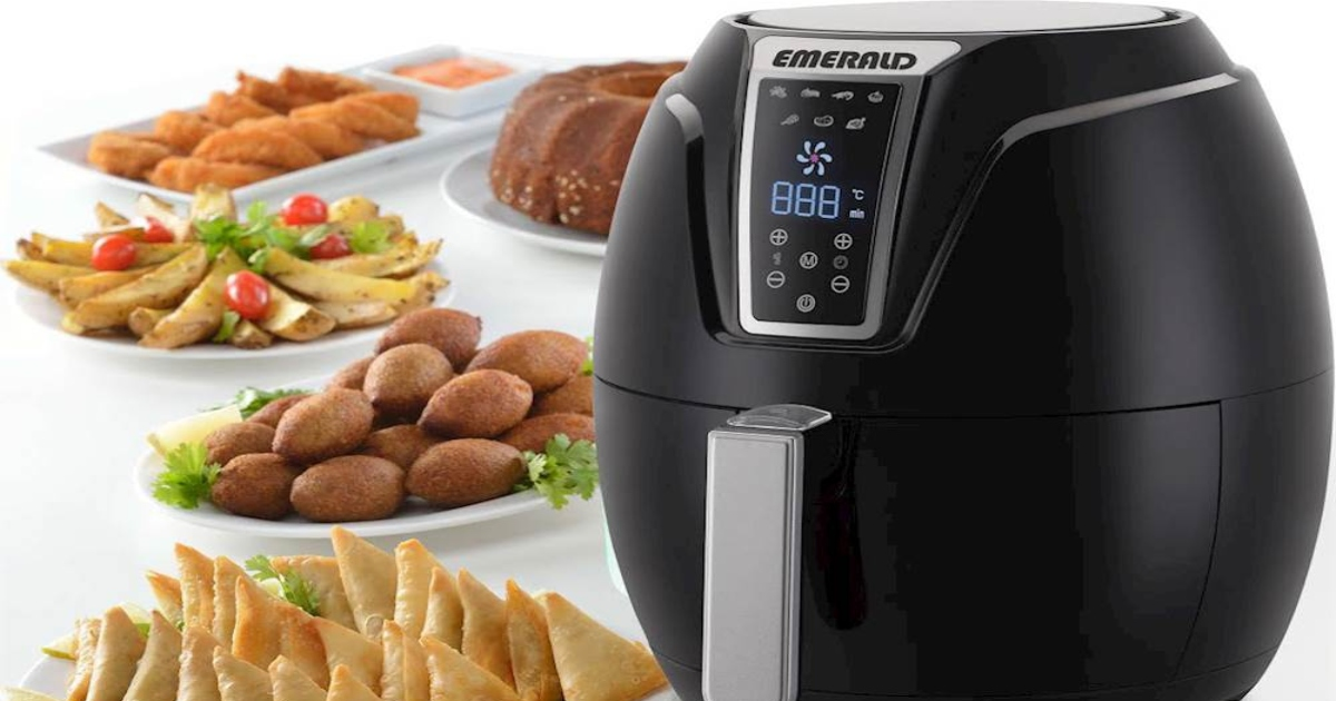 Best Air Fryer - Emerald Air fryer with plates of made food