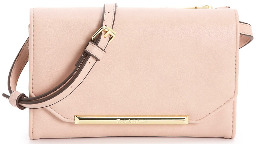 light pink crossbody bag