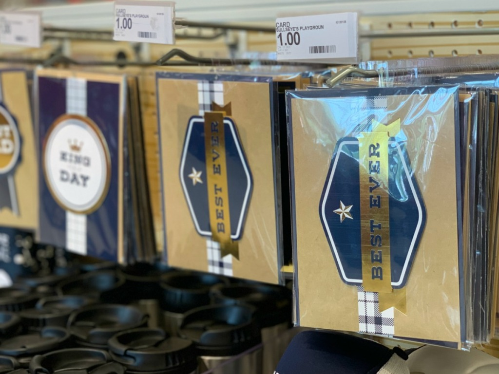 store display with Father's Day cards