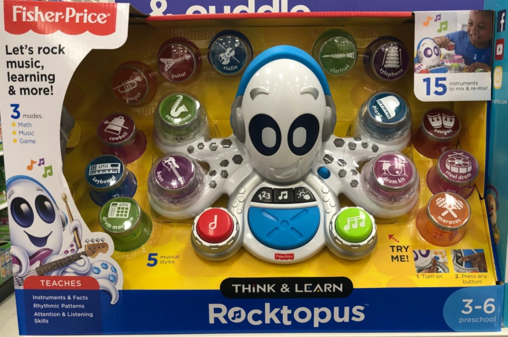 interactive toddler octopus toy on store shelf
