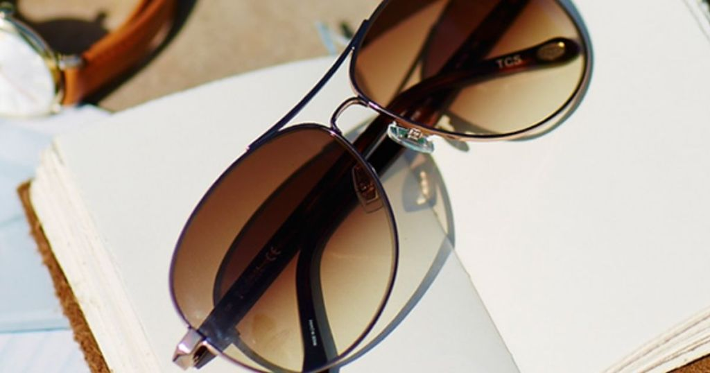 two pairs of womens sunglasses