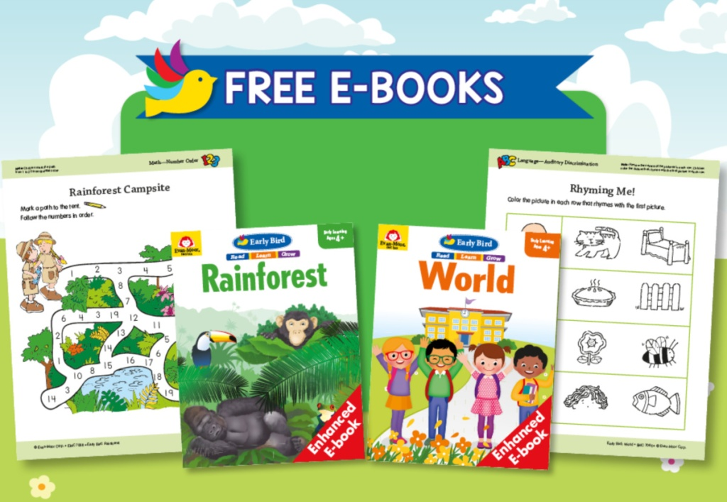 Free Early Bird World and Rainforest E-books