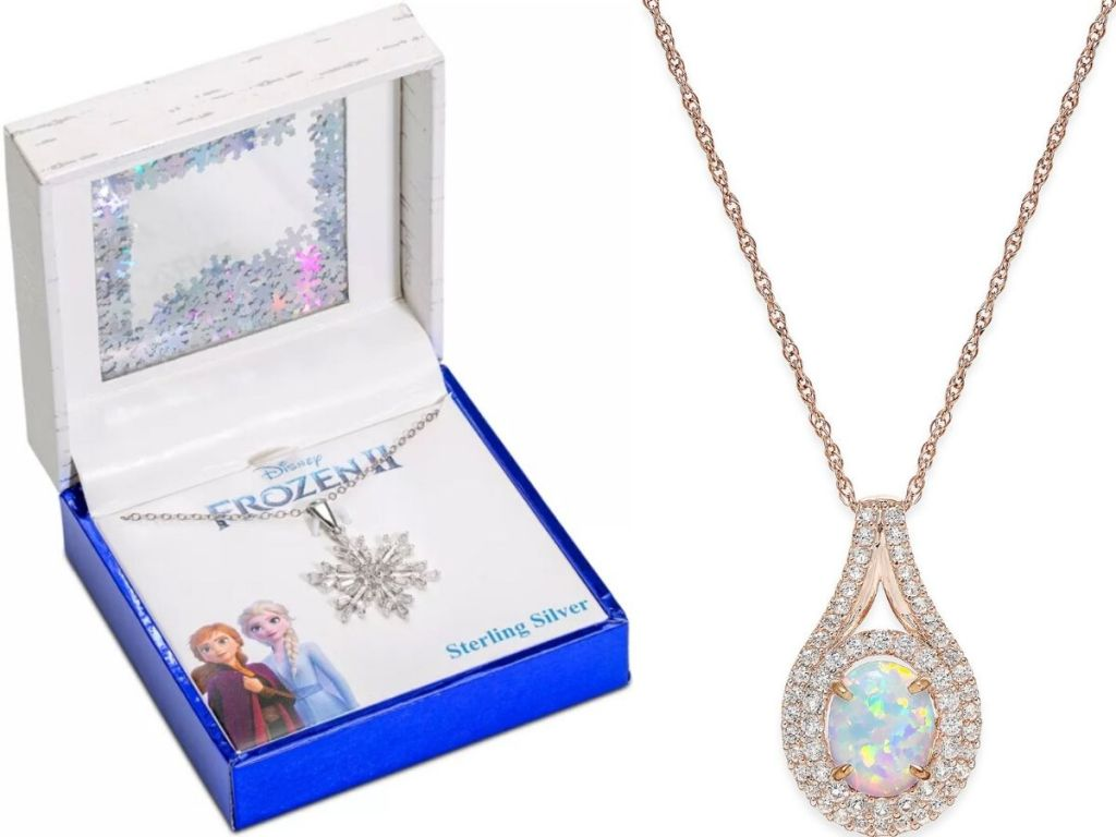 Frozen Necklace and Opal Pendant Necklace
