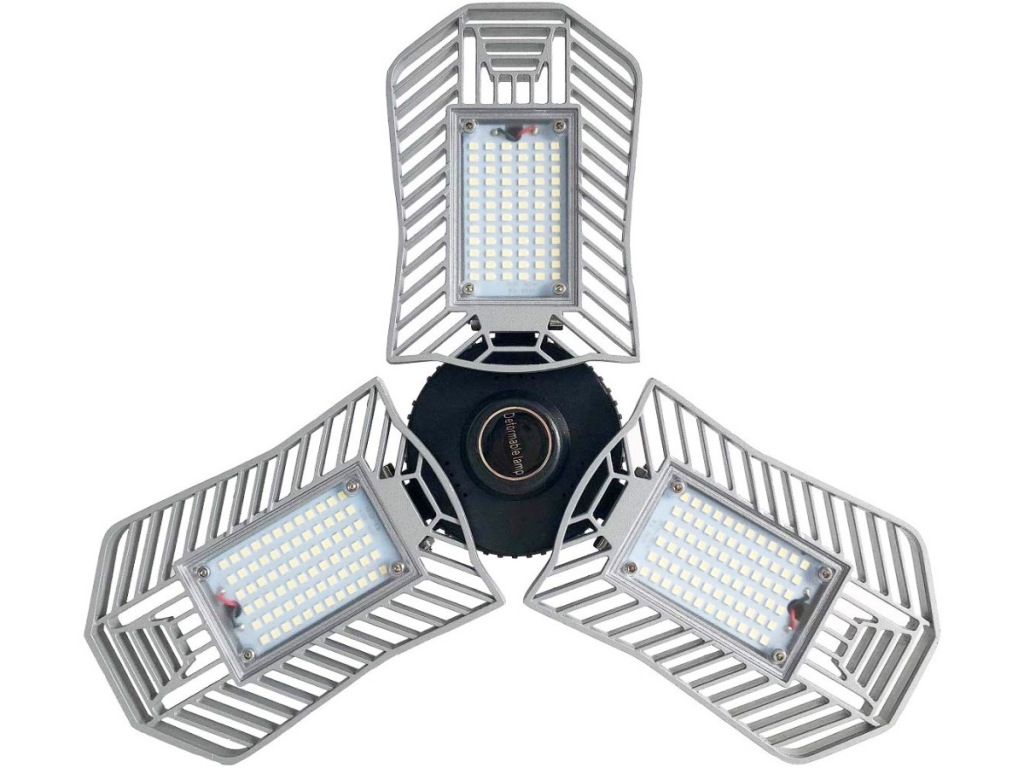 silver triple led garage light