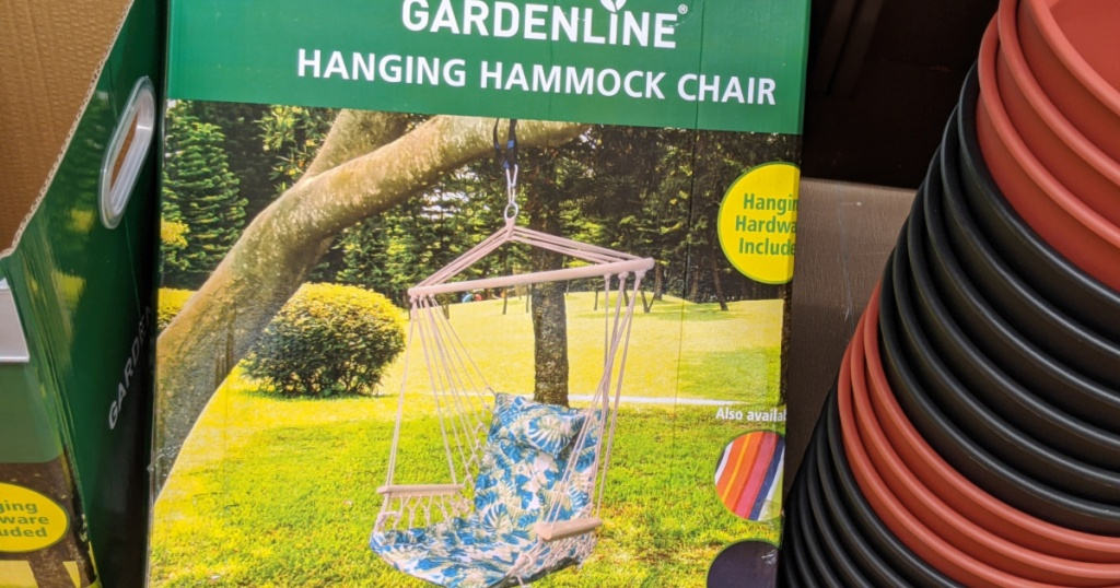 hanging hammock chair in box in store