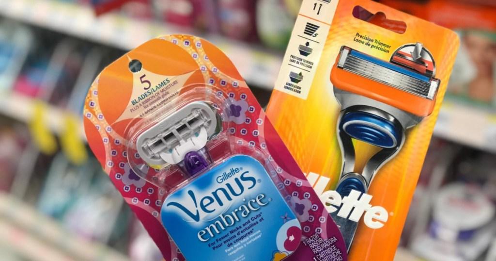 women's razor and men's razor in store