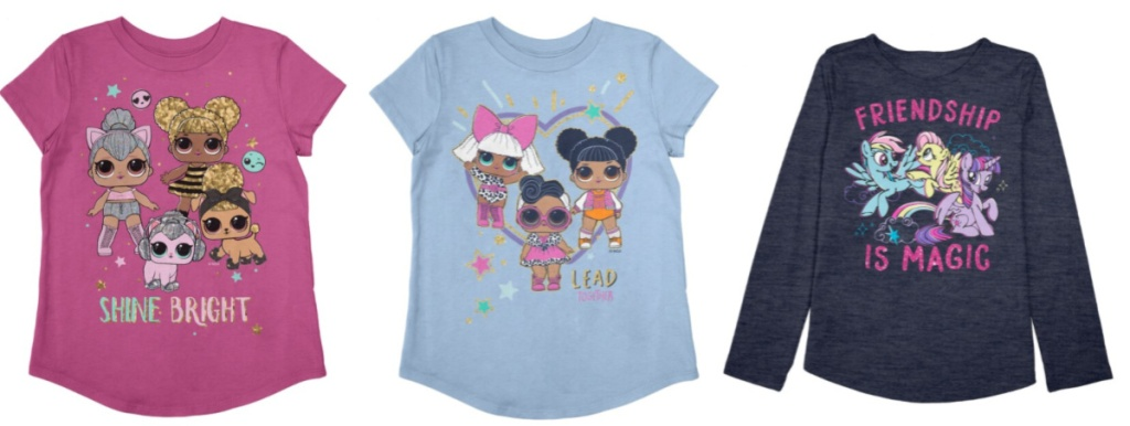 Girls L.O.L. Tees and My Little Pony sweater