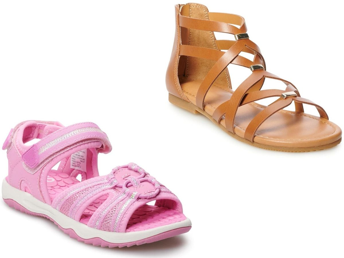 Up to 75% Off Girls Sandals on Kohl's