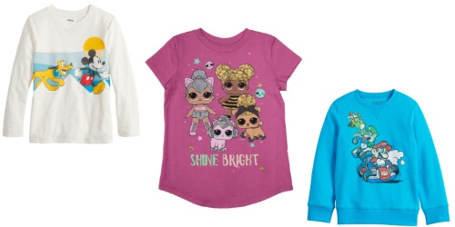 Kids Character Tees from $3 on Kohls.com (Regularly $13+) | Disney, L.O.L. Surprise & More