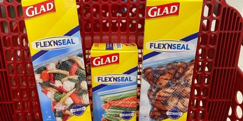 Glad Flex'n Seal Food Storage Bags Only $1.99 at Target (Regularly $4) | Just Use Your Phone