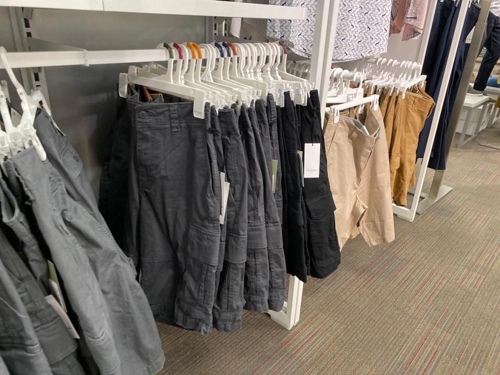 clothing rack of Goodfellow & Co Men's Shorts