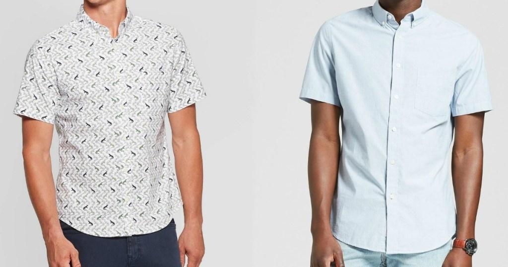 two men wearing button-down shirts