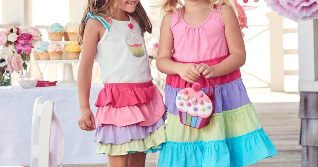 Girls wearing cute layered Dresses