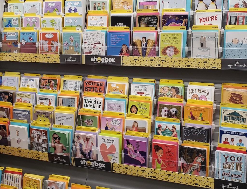 display of Hallmark cards at CVS
