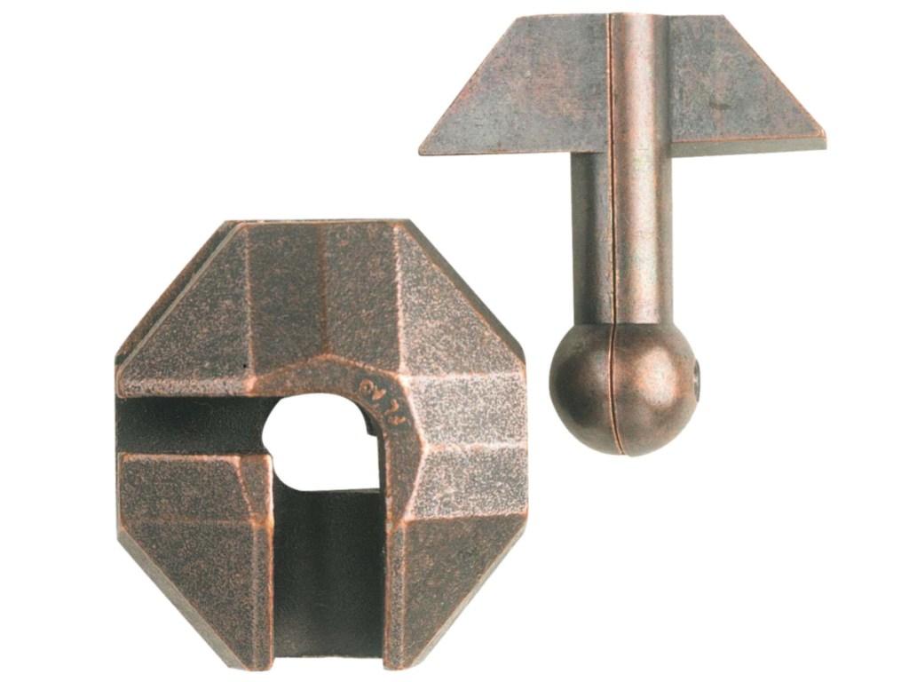 bronze colored Hanayama Cast Puzzle