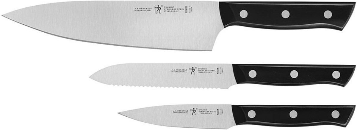 three sharp knives