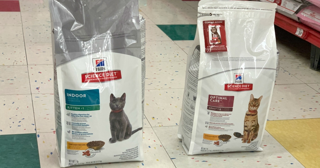 two bags of Hills-Science-Diet-cat-food