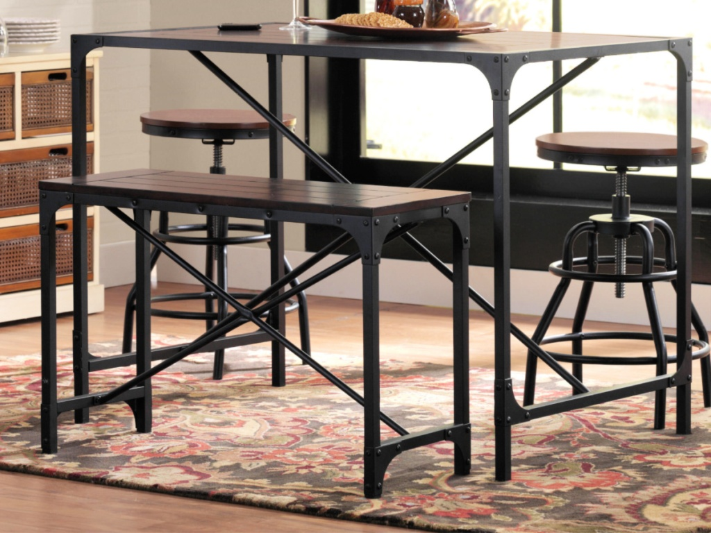 Home Decorator's Collection Industrial Empire Black Table