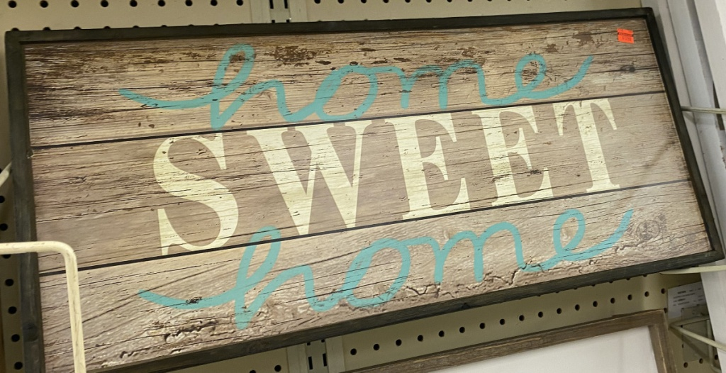 """""""Home Sweet Home"""" wood pallet wall decor"""
