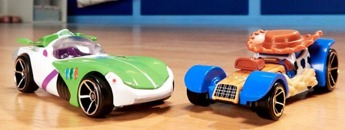 two Hot Wheels cars