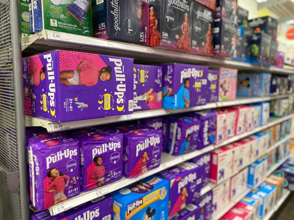 Huggies Pull-Ups on Target Shelf
