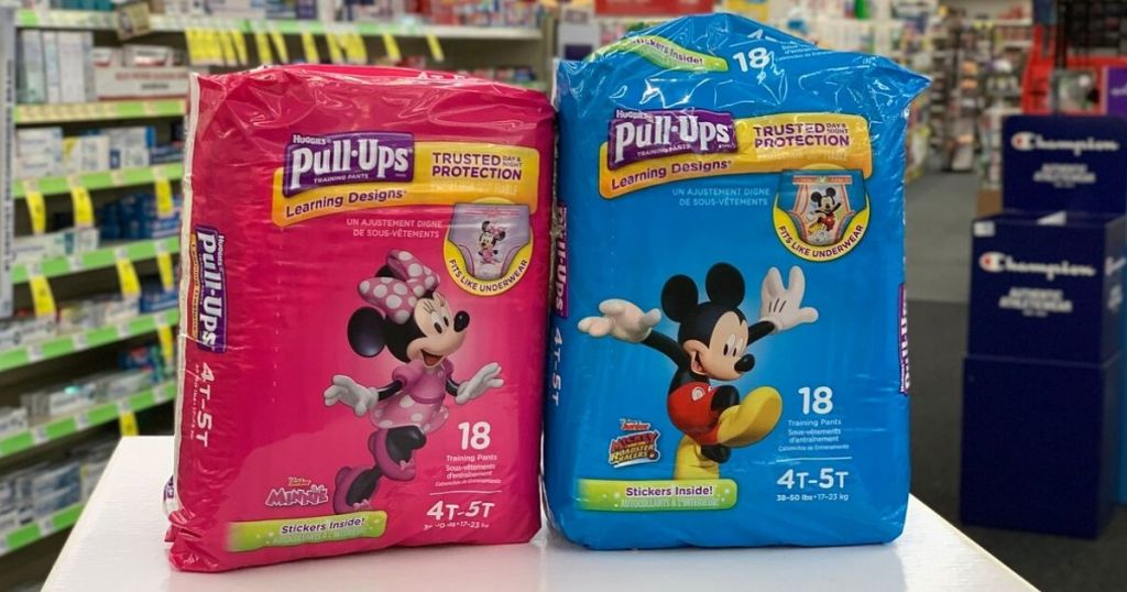 2 packs of Huggies Pull-Ups