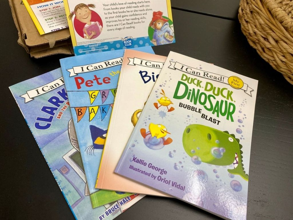 four paperback storybooks for children
